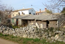 Our house with neighbouring houses around in Istria