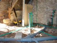 Plumbing installation in groundfloor in Istrian house