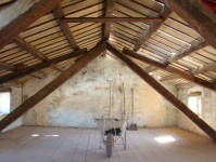 Roof back on our house in Istria and clean attic