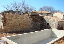 Pool & wall with the ground lifted but a lot of work still to be done
