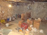 Half height wall forming kitchen bar in Kovaci, Istria