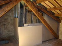 Walls going up for the ensuite bathroom in Kovaci, Istria