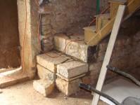 New stone stair steps at Kovaci, Istria