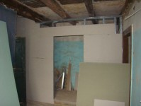 Walls going up for the family bathroom at Kovaci, Istria