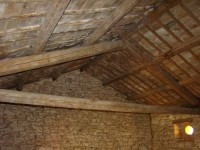 Inside of barn roof in Kovaci, Istria