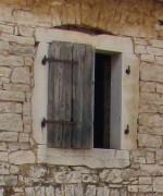 Large hay loft window into barn in Kovaci, Istria