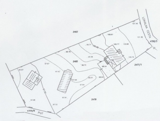 Surveyor's map of plot in Istria, Croatia