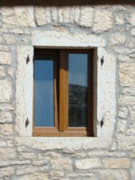 Wood-look window in Kovaci, Istria