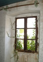 Old bedroom window at Kovaci, Istria