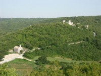 Chapel with Dvigrad, Istria behind
