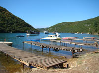 Limski Draga with pleasure boats, Istria
