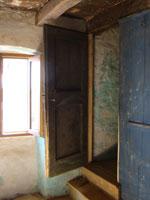 Rehung old door to master bedroom in Kovaci, Istria