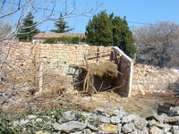 Next door animal shed almost completely demolished in Kovaci, Istria