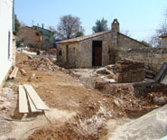 Trenches everywhere in Kovaci, Istria