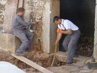 Toni & electrician at work in Kovaci, Istria
