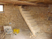 Almost finished stairs in Kovaci barn, Istria