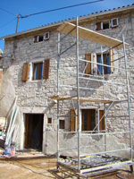 House with new shutters, Kovaci, Istria