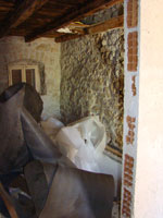 Lots of rubbish inside little house in Kovaci, Istria