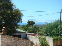 Sea view from front of house in Kovaci, Istria
