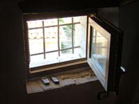 Bars covering attic window, Kovaci, Istria