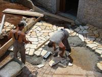 Miro & Amir paving in Kovaci, Istria