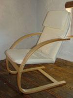 Flat-pack chair assembled in Kovaci, Istria