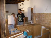 Assembling house kitchen in Kovaci, Istria