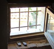 Window with bars in house attic, Kovaci, Istria