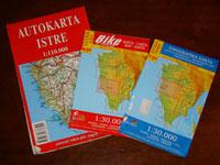Three Istrian maps