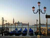 Venice seafront at St.Mark's Square in early morning