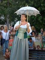 Narrator at Iustitia in Porec, Istria