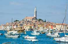 Rovinj harbour, Istria from the sea