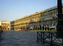 Empty St Mark's Square, Venice, in early morning