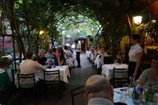 Eating under the vines in Antica Locanda Montin, Venice