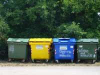 4 wheelie bins for rubbish in Istria