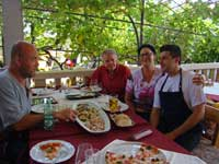 Lunch with Stef, Tony, Nadine & Paolo, Fancita, Vrsar, Istria