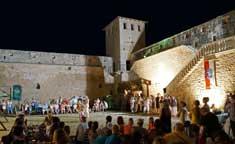 Svetvincenat castle during Mare the Witch, Istria