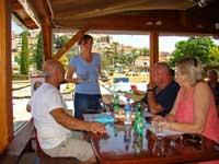 Ordering lunch at Srdela, Vrsar, Istria