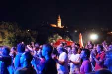 Crowds at Montraker, Vrsar, Istria