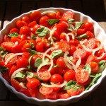 Cherry tomatoes in balsamic viniagrette