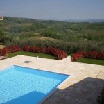 Pool with view at Baredine in Istria