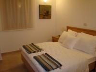 Bedroom in the furnished show house at Baredine in Istria