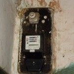 old electricity meter inside house