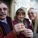 Valter handing us the key for Kovaci in Istria