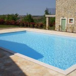 Huge shared pool with houses at Baredine in Istria