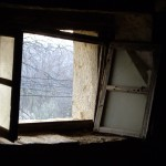 Broken attic window