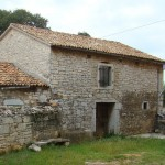 Front of barn before work began in Kovaci, Istria