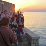 the thief is caught in Iustitia, Porec, Istria