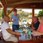 lunch is ordered at Srdela, Vrsar, Istria