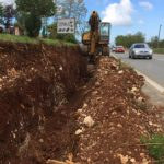 Sewer line trench near Zbandaj on Porec-Pazin road